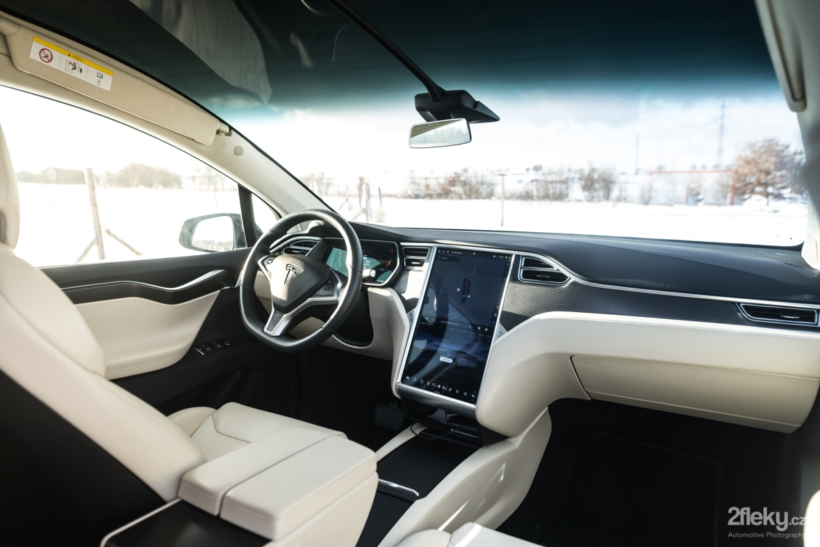 Automotive photography Tesla model X interior