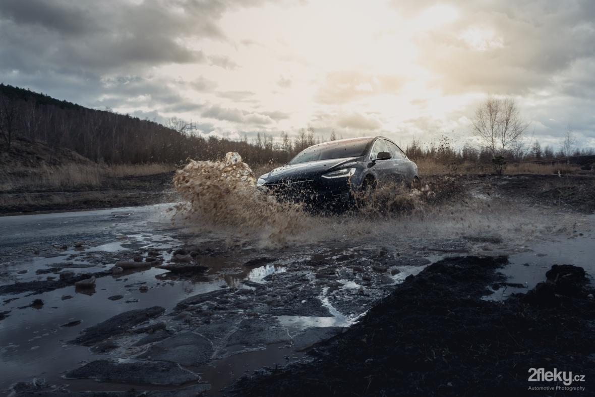 Automotive photography Tesla model X